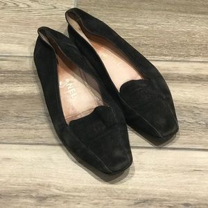 CHANEL Shoes - Vintage Chanel black suede flats
